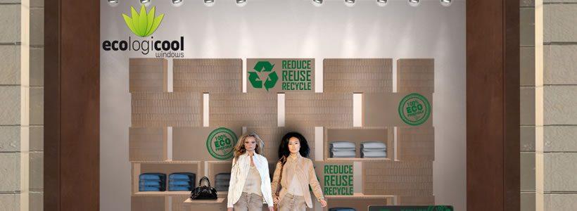 Vetrine GREEN Made in Italy per il mondo della moda e del commercio dai Deparment store più fashion del Medio Oriente.