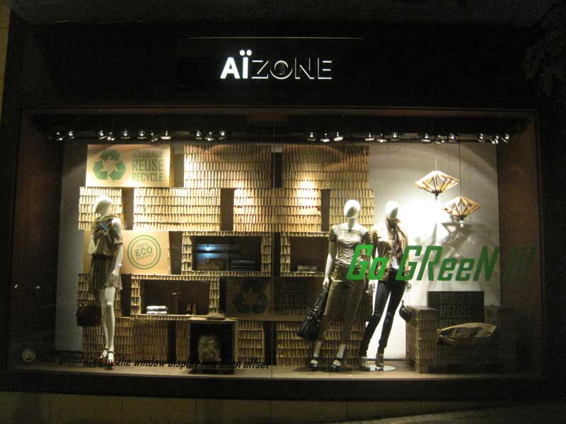 Vetrine GREEN Made in Italy Aizone department store