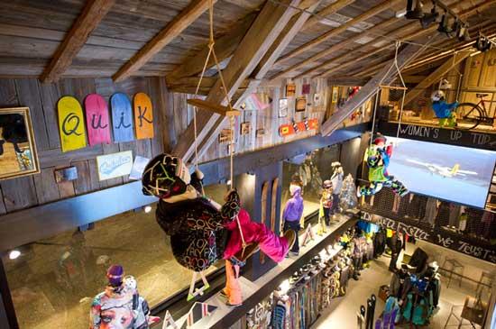 ROXY QUIKSILVER negozio Boardriders Chamonix