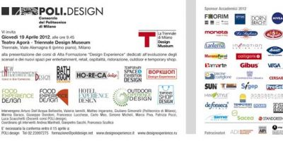 """Presentazione dei corsi """"Design Experience""""  di POLI.Design"""