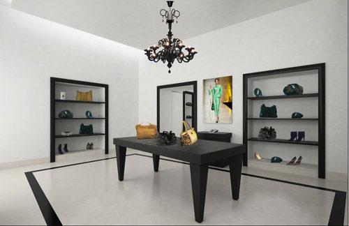Roccobarocco milano an arredamento negozi retail for Negozi arredamento design milano