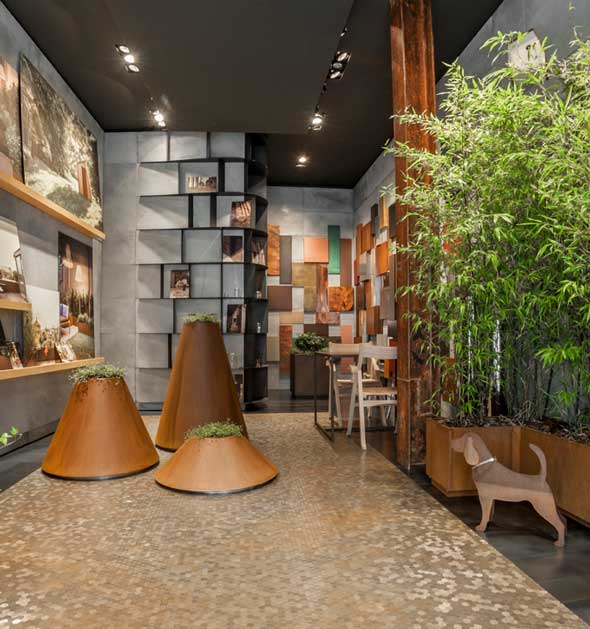 flagship store DE CASTELLI Milano allestimento dedicato all'outdoor