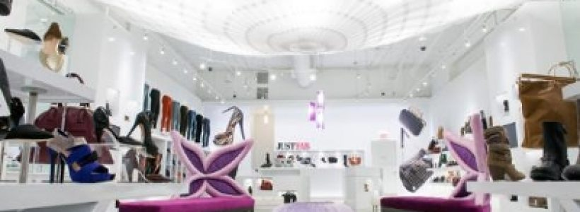 Online fashion subscription retailer JustFab opens its first store.