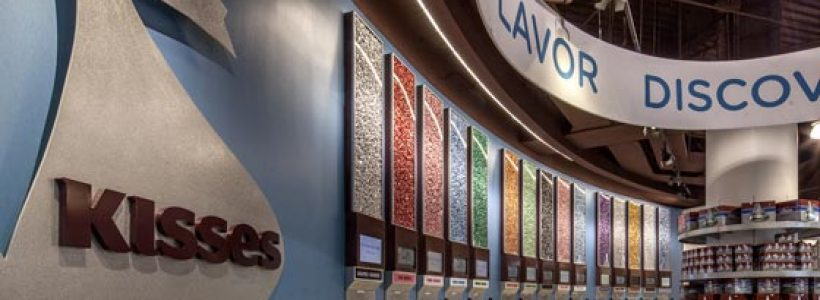 HERSHEY'S chocolate world unwraps a sweet new Las Vegas candy land.