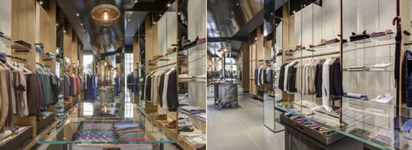 LUCIANO BARBERA flagship store, Milan.