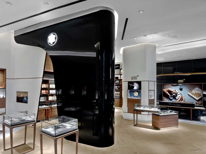 montblanc concept store an shopfitting magazine. Black Bedroom Furniture Sets. Home Design Ideas