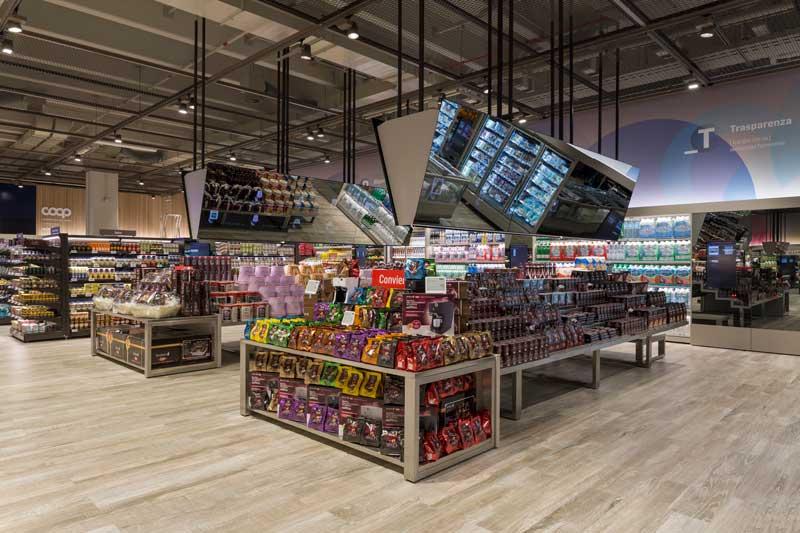 Cefla Shopfitting supermercato futuro Coop