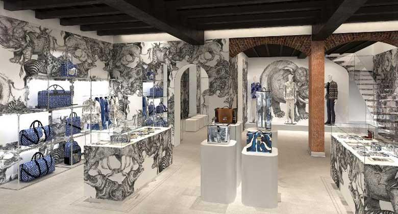 Louis Vuitton pop up store Milano