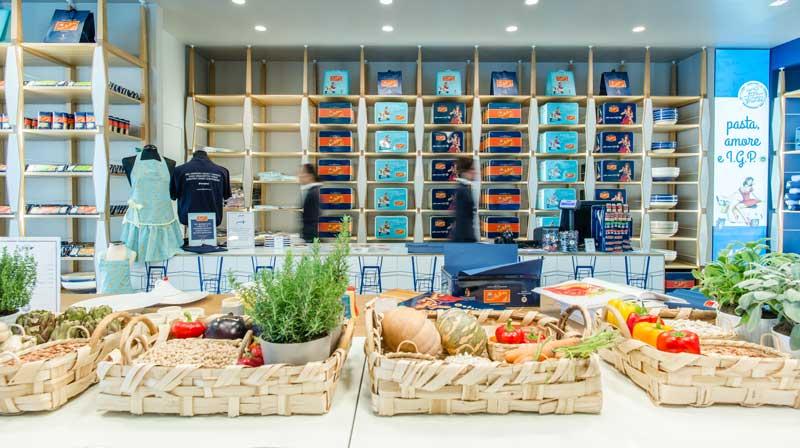 Pasta Gragnano flagship store aeroporto Bologna