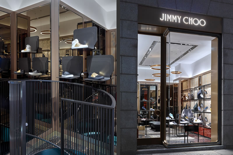 retail design boutique Jimmy Choo Milano