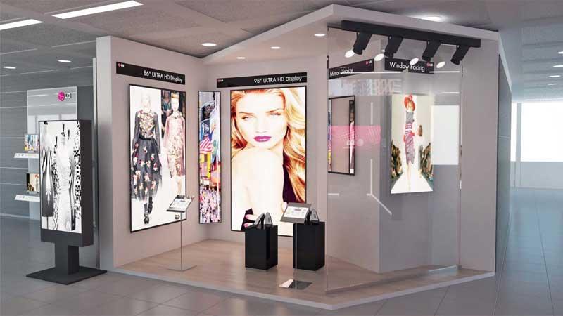 LG Information Display showroom milano