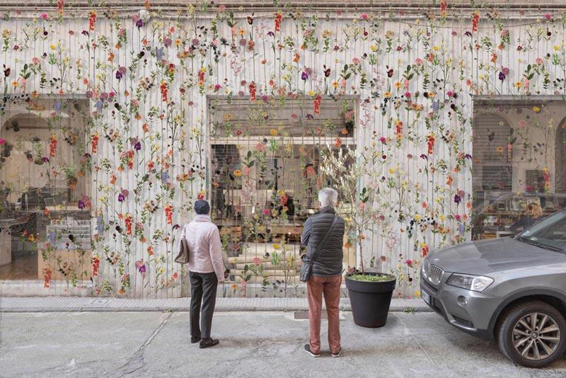 piuarch flowerprint installazione brera design week