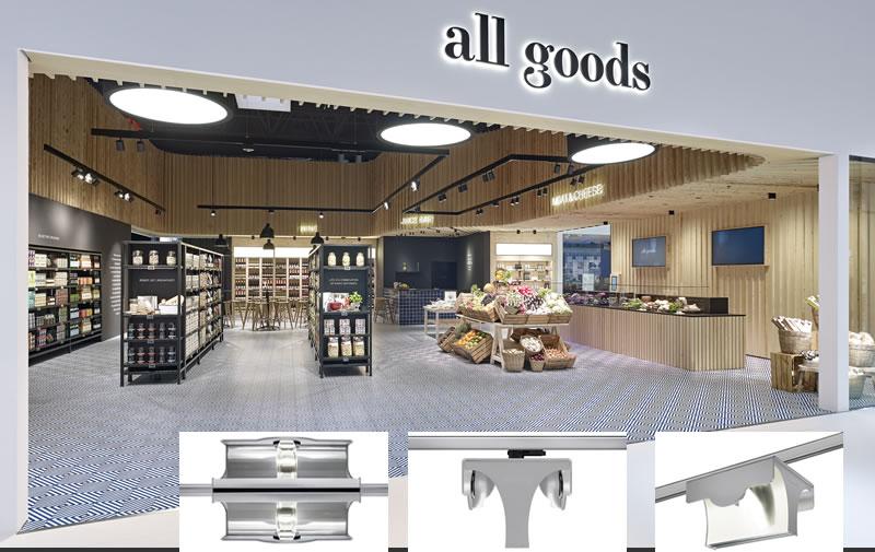 Progettazione illuminotecnica per negozi illuminazione led per