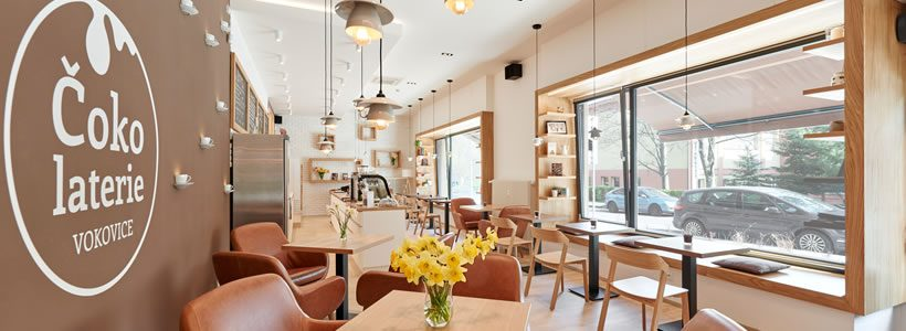 Chocolateria VOKOVICE Prague, by Jan Bek Architetct.