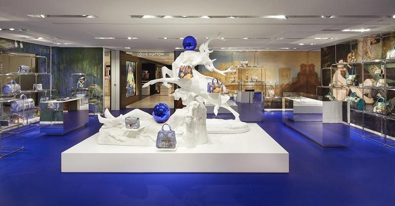 Louis Vuitton pop-up store Rinascente Jeff Koons