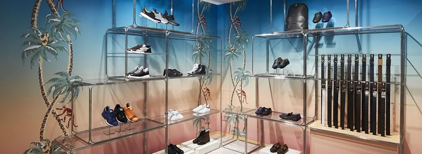Allestimento esotico per il pop-up Louis Vuitton in Rinascente