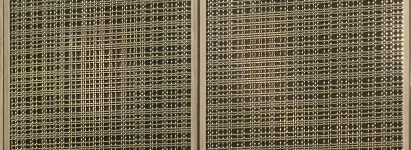 Banker Wire's Woven Mesh Transforms Panels that Stylishly Conceal Storage.