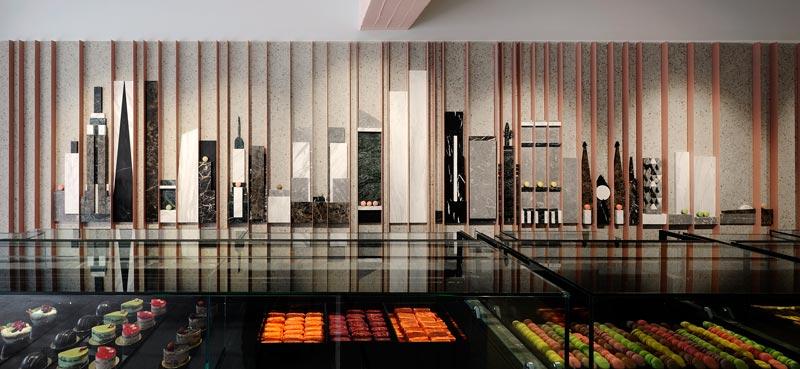 Minas Kosmidis progettazione pasticceria new york sweets