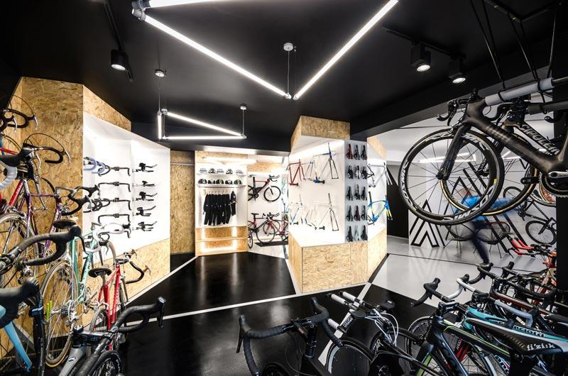 progettazione negozi biciclette Velo 7