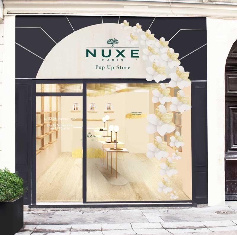 Nuxe temporary store Parigi