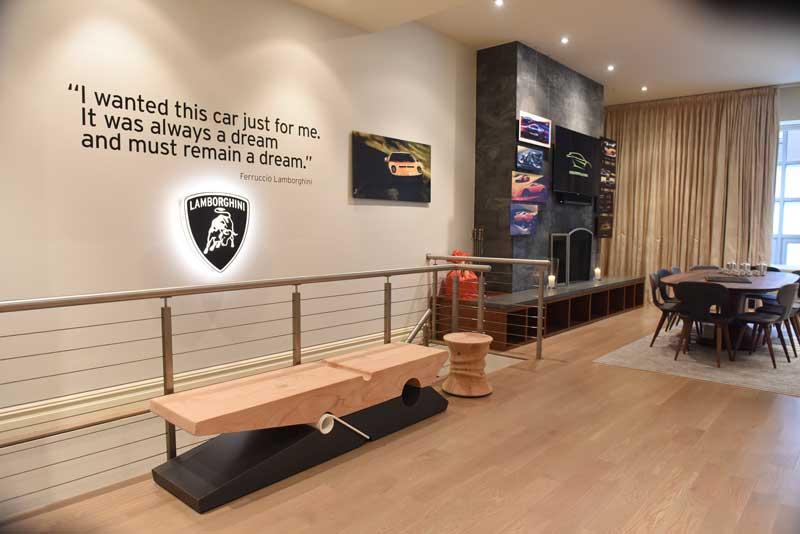 Lamborghini lounge New York