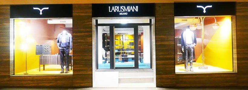 Larusmiani: un temporary store a Sankt Moritz.