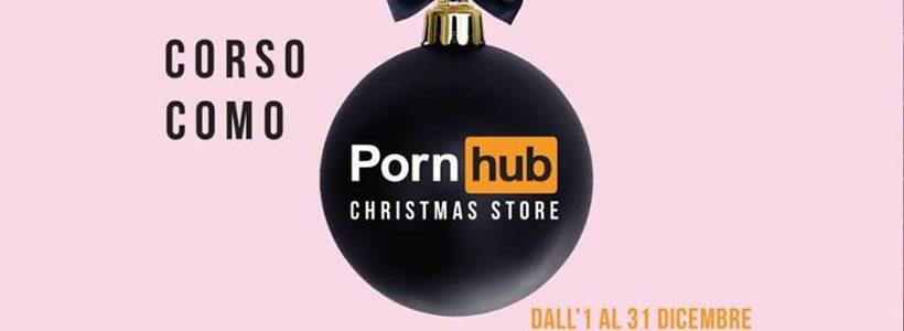 Apre oggi a Milano il primo Pornhub Christmas Store