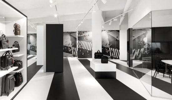 i29 architects firma il nuovo negozio SAMSONITE di Amsterdam.