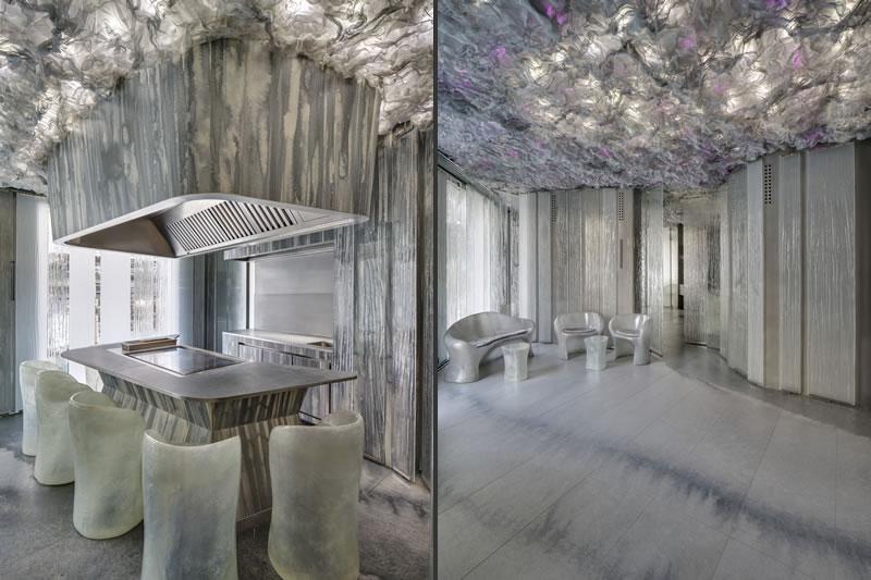 interior design ristorante Enigma Barcellona