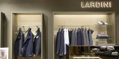LARDINI: 3 corner shop monomarca a Madrid.