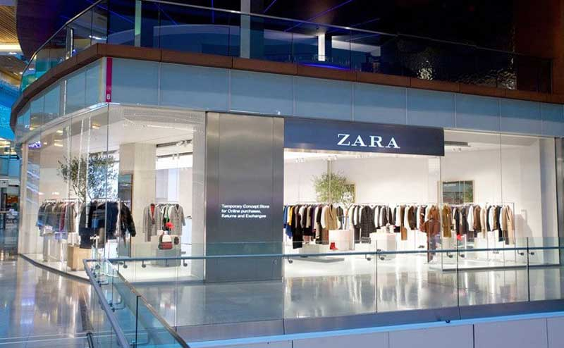 negozio del futuro Zara Londra
