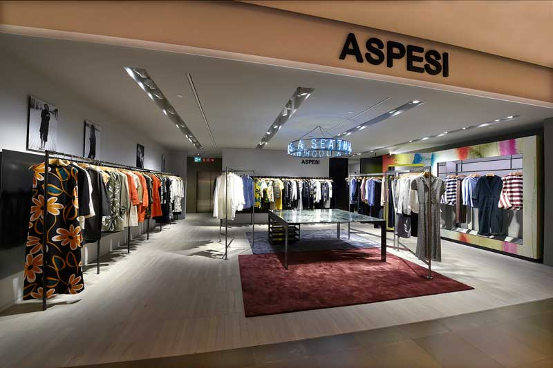 In rinascente milano un nuovo shop in shop aspesi dedicato for Store design milano
