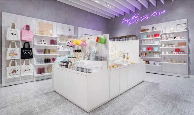 store design Uxus Riley Rose beauty boutique Usa