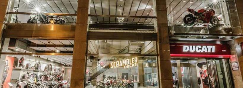 Ducati apre un nuovo store a Madrid, il più grande in Spagna.