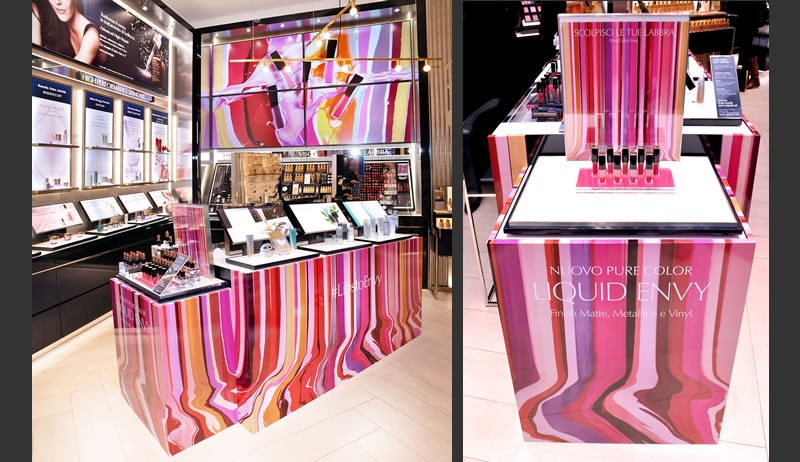 Estee Lauder colora la sua boutique di Milano