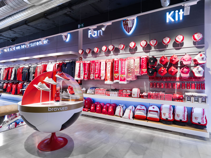 Marketing Jazz retail design Siviglia Footbal Club official store