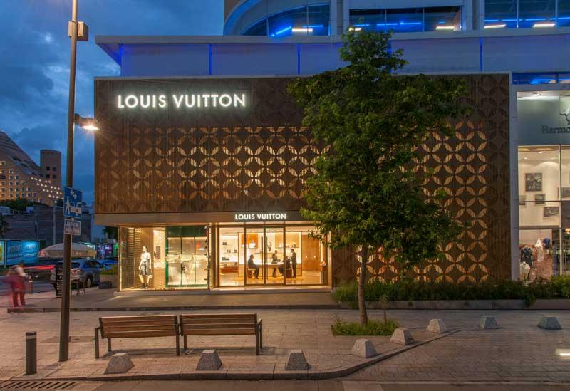Materia architectural design for Louis Vuitton mexico city