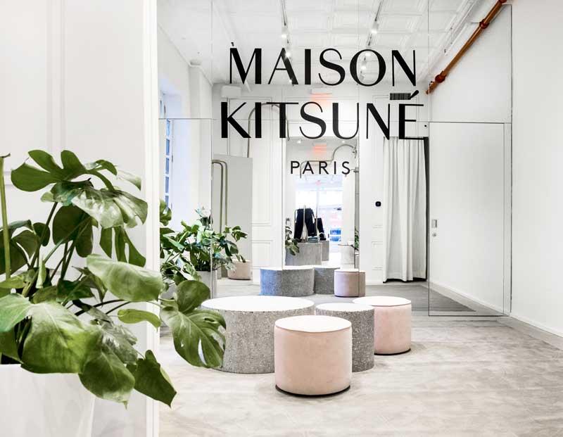 Mathieu Lehanneur progetto flagship store Maison Kitsuné New York