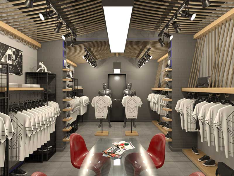 Studio SPINADESIGN progettazione concept store JAGO PEREZ