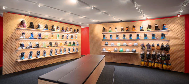 The Los Angeles Design Group designed Surefoot Retail Store in Whistler