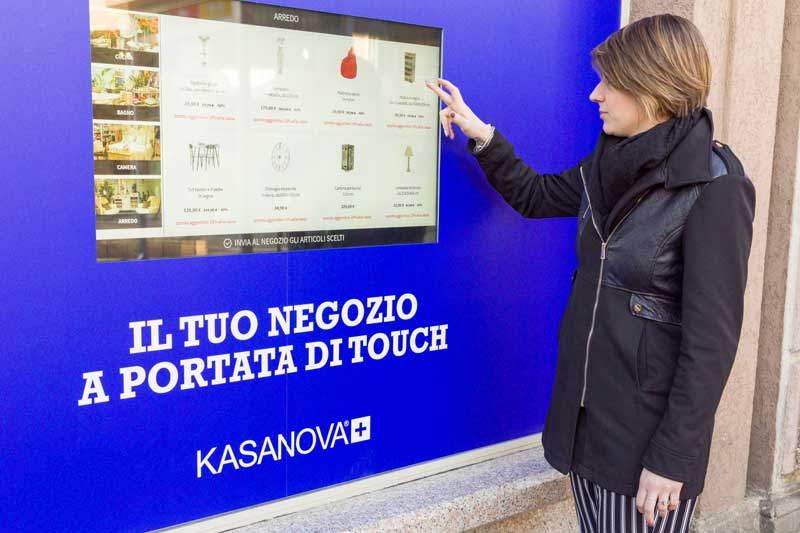 vetrine interattive Kasanova Varese