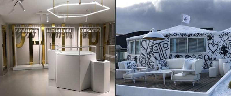 Philipp Plein temporary store Saint Tropez