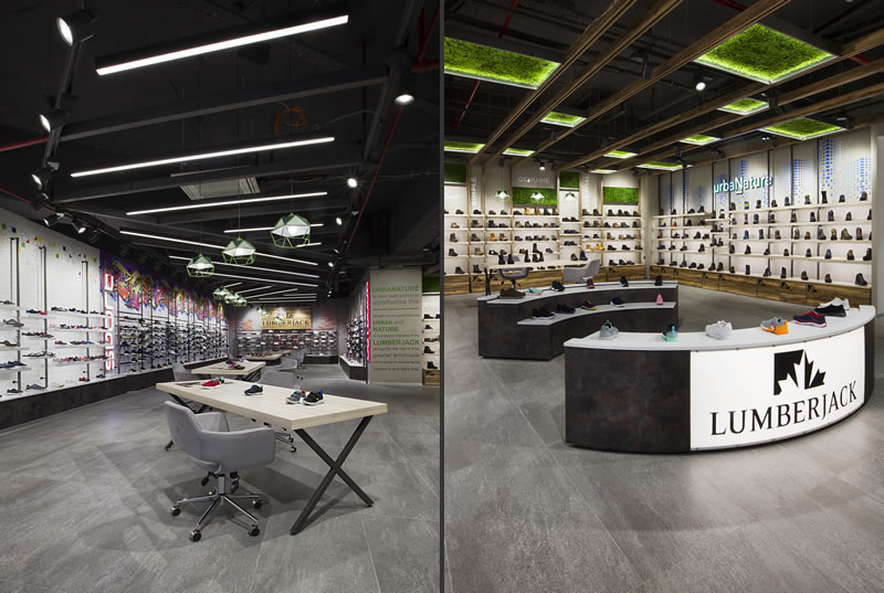 CBTE Architecture progetto showroom Lumberjack Istanbul
