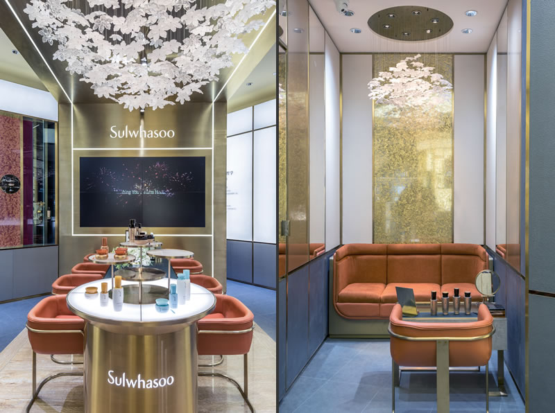 retail design Christian Lahoude progetto Sulwhasoo Beauty Store