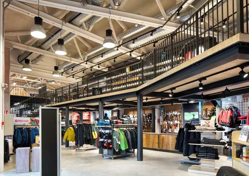 rp studio designed sport retail store nuovi orizzonti bologna