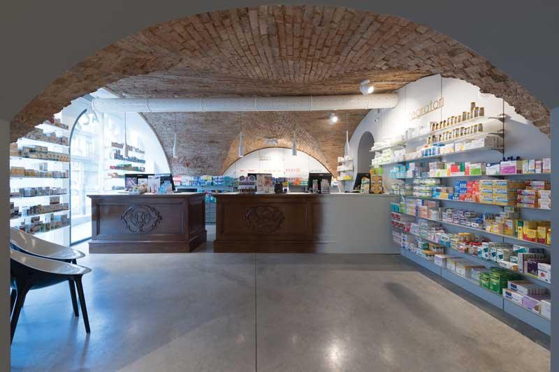 Studio AZ design progetto Farmacia Fappani Boltiere Bergamo