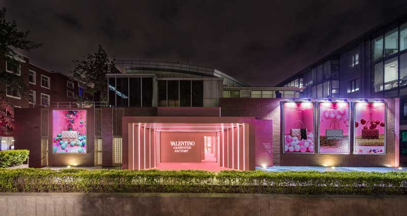 Valentino opens Candystud Factory Pop-Up Store in Beijing