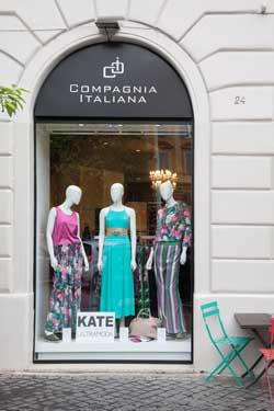 Compagnia Italiana boutique Roma piazza Regina Margherita