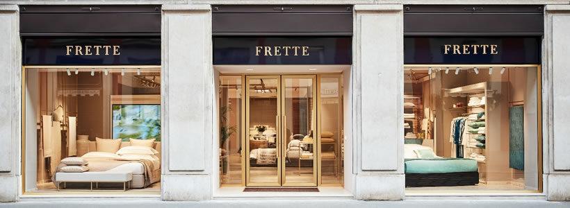 FRETTE: nuovo look per la storica boutique di Milano.