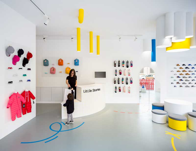 CLAP STUDIO progetto boutique Little Stories Valencia